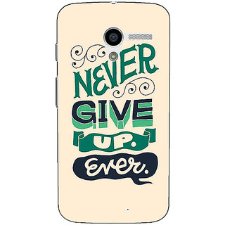 1 Crazy Designer Quotes Never Give Up Back Cover Case For Moto X (1st Gen) C531153