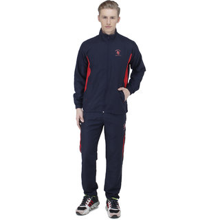 Greenwich United Polo Club Mens Blue Orange Cotton Blend Tracksuit