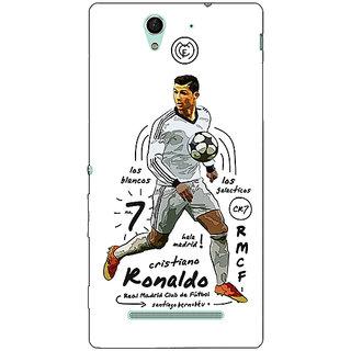 1 Crazy Designer Real Madrid Ronaldo Back Cover Case For Sony Xperia C3 C550586