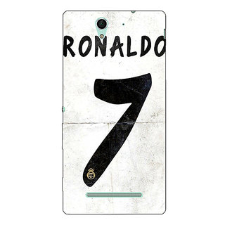 1 Crazy Designer Real Madrid Ronaldo Back Cover Case For Sony Xperia C3 C550598