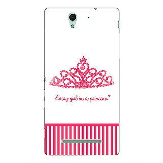 1 Crazy Designer Princess Back Cover Case For Sony Xperia C3 C551421