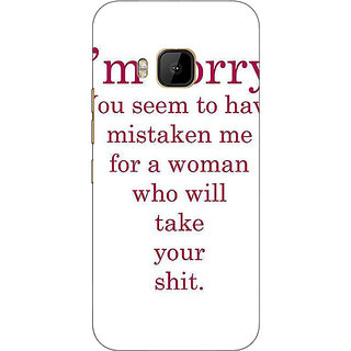 1 Crazy Designer Quote Back Cover Case For HTC M9 C541331