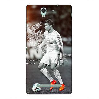 1 Crazy Designer Cristiano Ronaldo Real Madrid Back Cover Case For Sony Xperia C3 C550312