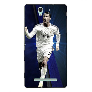 1 Crazy Designer Cristiano Ronaldo Real Madrid Back Cover Case For Sony Xperia C3 C550316