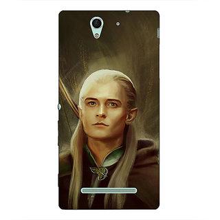 1 Crazy Designer LOTR Hobbit  Back Cover Case For Sony Xperia C3 C550375