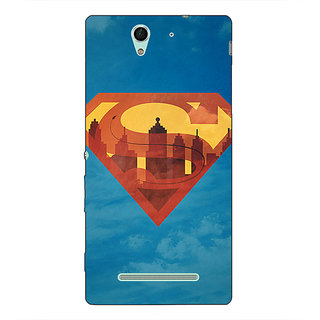 1 Crazy Designer Superheroes Superman Back Cover Case For Sony Xperia C3 C550388
