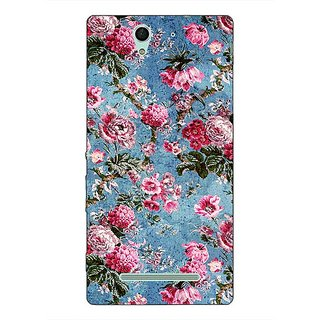1 Crazy Designer Floral Pattern  Back Cover Case For Sony Xperia C3 C550664