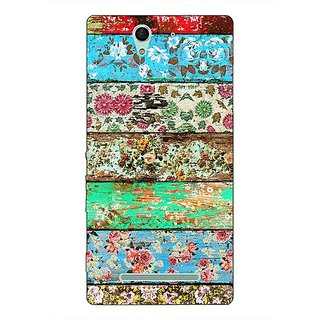 1 Crazy Designer Floral Pattern  Back Cover Case For Sony Xperia C3 C550671
