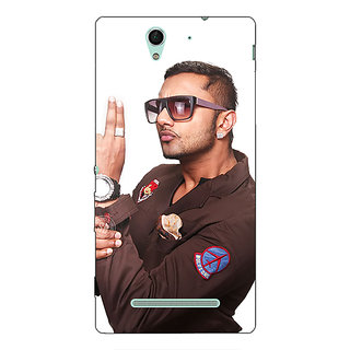 1 Crazy Designer Bollywood Superstar Honey Singh Back Cover Case For Sony Xperia C3 C551183