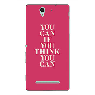1 Crazy Designer Quotes Back Cover Case For Sony Xperia C3 C551193