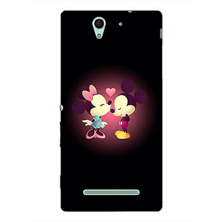 1 Crazy Designer Mickey Minnie Mouse Back Cover Case For Sony Xperia C3 C551440