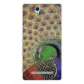 1 Crazy Designer Paisley Beautiful Peacock Back Cover Case For Sony Xperia C3 C551586