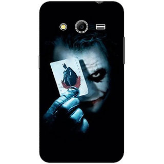 1 Crazy Designer Villain Joker Back Cover Case For Samsung Core 2 C560032