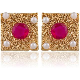 Sukkhi Glistening Gold Plated Stud Earring For Women
