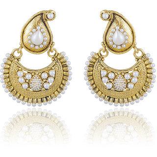 Buy Sukkhi Creative Gold Plated Chandbali Earring For Women Online