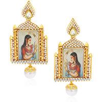 Sukkhi Glistening Antique Gold Plated Kundan Earring For Women