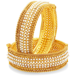 Sukkhi Marvellous Gold Plated Pearl Bangle For Women