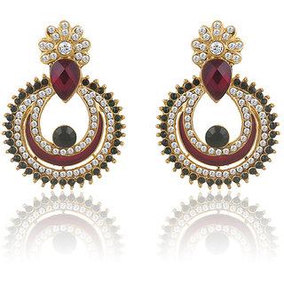 Buy Sukkhi Gleaming Gold Plated Ad Chandbali Earring For Women