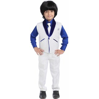 e92bacabf Buy Jeet Stylish White Waistcoat Suit for Boys Online - Get 53% Off