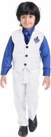 Jeet Stylish White Waistcoat Suit for Boys