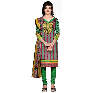 Nakoda Creation Women's Cotton Printed Unstitched Salwar Suit Dress Material