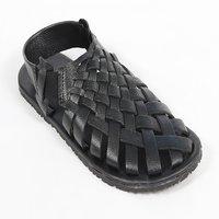 HASH Leather Woven Sandal