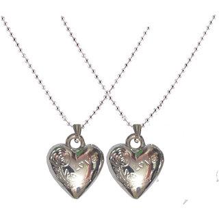 Men Style Silver  Couple Love Heart Valentine  Pendent
