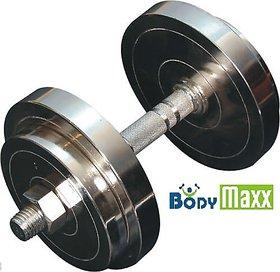 Body Maxx 20 Kg Chrome Steel Dumbells Sets + Dumbells Rods 14