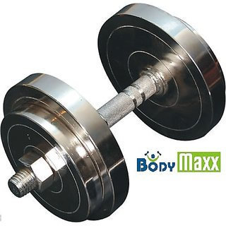 6141165cfdc Adjustable 20 kg Body maxx Chrome Steel Dumbells Sets with dumbells ...