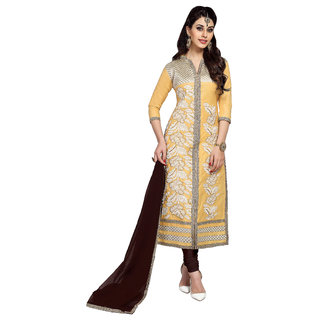 Khushali Presents Embroidered Glaze Cotton Dress Material (MCRDSB41058)