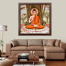 Elegant Arts  Frames Digital Framed Art Print - Budha