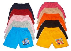 Infant 10 Piece Combo Of Shorts For Baby Girls And Baby Boys