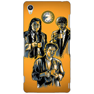 1 Crazy Designer Pulp Fiction Back Cover Case For Sony Xperia M4 C610351