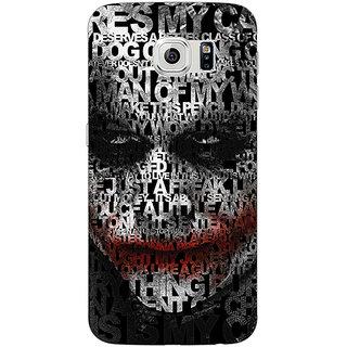 1 Crazy Designer Villain Joker Back Cover Case For Samsung S6 Edge C600047