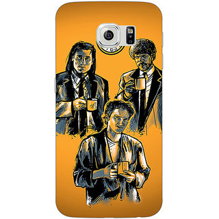 1 Crazy Designer Pulp Fiction Back Cover Case For Samsung S6 Edge C600351