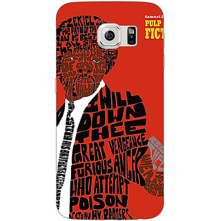 1 Crazy Designer Pulp Fiction Back Cover Case For Samsung S6 Edge C600354