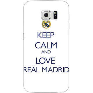 1 Crazy Designer Real Madrid Back Cover Case For Samsung S6 Edge C600600