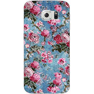1 Crazy Designer Floral Pattern  Back Cover Case For Samsung S6 Edge C600664