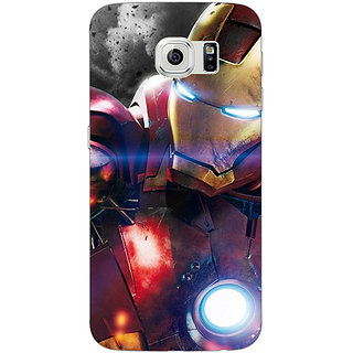 1 Crazy Designer Superheroes Ironman Back Cover Case For Samsung S6 Edge C600882