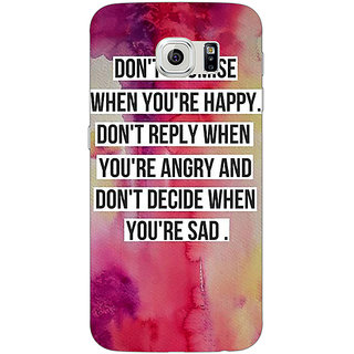 1 Crazy Designer Wise Quote Back Cover Case For Samsung S6 Edge C601144