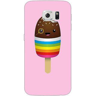 1 Crazy Designer Rainbow Icecream Back Cover Case For Samsung S6 Edge C601146