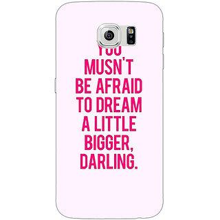 1 Crazy Designer Quotes Back Cover Case For Samsung S6 Edge C601197