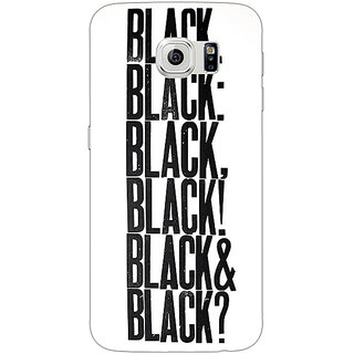 1 Crazy Designer Black Quotes Back Cover Case For Samsung S6 Edge C601199