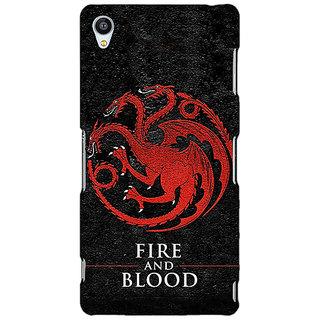 1 Crazy Designer Game Of Thrones GOT House Targaryen  Back Cover Case For Sony Xperia M4 C610200