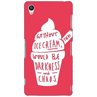 1 Crazy Designer Ice Cream Quote Back Cover Case For Sony Xperia M4 C611296