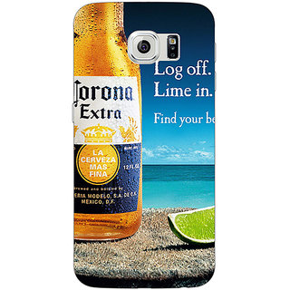 1 Crazy Designer Corona Beer Back Cover Case For Samsung S6 Edge C601237