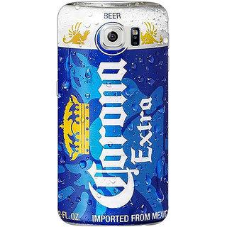1 Crazy Designer Corona Beer Back Cover Case For Samsung S6 Edge C601260