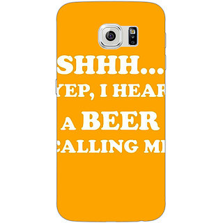 1 Crazy Designer Beer Quote Back Cover Case For Samsung S6 Edge C601263