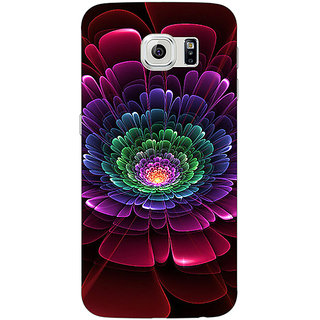 1 Crazy Designer Abstract Flower Pattern Back Cover Case For Samsung S6 Edge C601504