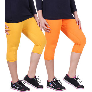 Madona Capri With Mayani - Pack of 2 (Orange-Yellow)